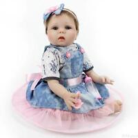 "22"" Newborn Reborn Baby Dolls Lifelike Vinyl Silicone Realistic Baby Girl Doll"