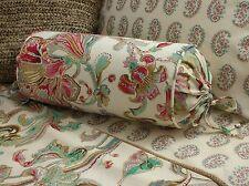 NEW Custom Ralph Lauren Antigua Floral Neckroll Pillow Neck Roll LONG