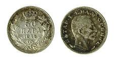 pcc1840_99) YUGOSLAVIA - SERBIA - PETER I° - 50 PARA SILVER 1915