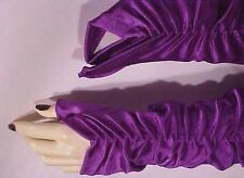 gloves new! PuRPLE-SaTiN Fingerless CoFFIN-gOth Fetish Glamourous