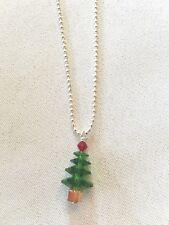 Collar de árbol de Navidad hecho con cristales de Swarovski Joyería De Vacaciones, envío gratuito