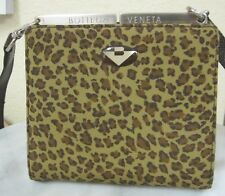 Pristine Authentic MINT BOTTEGA VENETA Handbag- Crossbody Shoulder Leopard Print