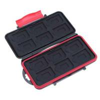 Water Resistant Memory Card Storage Case 12SD+12TF SD Cards Box Anti-Shock