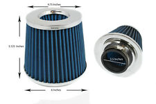 "3.5 Inches 89 mm Cold Air Intake Cone Filter 3.5"" New BLUE Acura/Honda"