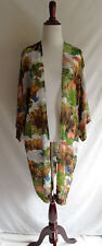 TOPSHOP Tropical Asian Woodlands Print Kimono Cardigan Duster Jacket Top Size 4