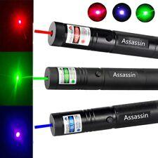 Pack of 3 900Miles Green+Red+Blue Purple Laser Pointer Pen Beam Focus/Zoom Lazer