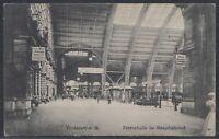FFM 37814) AK Frankfurt a. M. Perronhalle im Hauptbahnhof 1908 Fechenheim