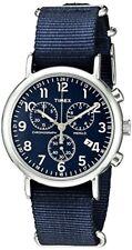 Timex Corporation Mens Weekender Chrono Green Nylon Slip-Thru Strap Watch