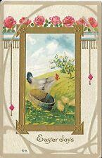 "Antique Postcard, ""Easter Joys"" Copr E Nash, 1910, Easter Series No 17"