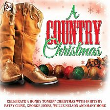 A COUNTRY CHRISTMAS 2CD 49 Christmas Hits NEW Patsy Cline Jim Reeves Johnny Cash