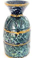 "Mid Century Modern Vtg Bitossi Londi Italian Art Pottery Blue/Green Vase 6.75"""
