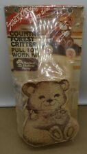 Vintage Walnut Hollow Country Forest Critter Wood Pull Toy Kit Honey Bear Sealed