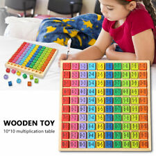 Baby Wooden Toy Gift Multiplication Formula Early Learning Tool Puzzle Board Set