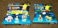 New Lego Dimensions The Simpsons Bart Gravity Sprinter + Springfield Level Pack