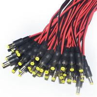 10Pcs 5.5x2.1mm 12V Male + Female DC Power Socket Jack Plug Connector Cable
