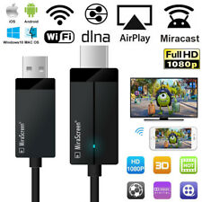 Smart Wireless WiFi Display Dongle Receiver TV Stick Cable Miracast Airplay DLNA