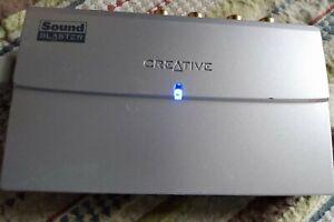 CREATIVE SOUND BLASTER SB0270 MP3 PLUS EXTERNAL SOUND CARD SYSTEM *WORKS*