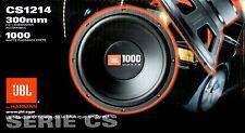 "JBL CS1214 12"" CS Series Single 4 Ohm Car Audio Subwoofer 1000 W 0500369309320"