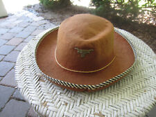 COWBOY HAT CHILD SUEDE LIKE - VINTAGE 50's/60's GREAT CONDITION-WESTERN PLAY