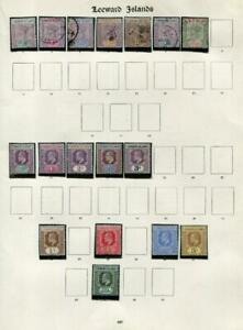 LEEWARD ISLANDS: Victoria-Edward VII - Ex-Old Time Collection - Page (41688)