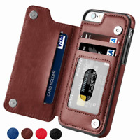 Flip Leather Phone Case Card Holder RFID Wallet Case Cover For Iphone Samsung