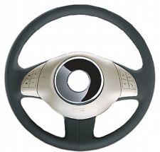 Coprivolante Facile specifico per Fiat 500 SIMONI RACING In Vera Pelle Nero