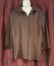 Antilia Femme Brown Dress Shirt w/2 belts NWT Sz 2X