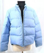 J. J Crew Down Puffer Lodge Jacket Ice Blue Zip Jacket Coat Winter Warm Junior M