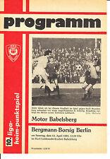 DDR-Liga 82/83  BSG Motor Babelsberg - BSG Bergmann-Borsig Berlin, 10.04.1983