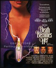 DEATH BECOMES HER__Original 1992 Print AD movie promo__MERYL STREEP__GOLDIE HAWN