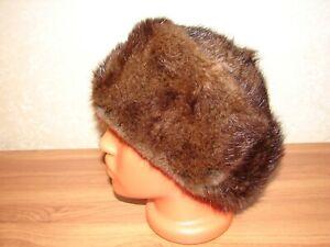 Muskrat Real Fur Hat Natural Genuine Fur Muskrat