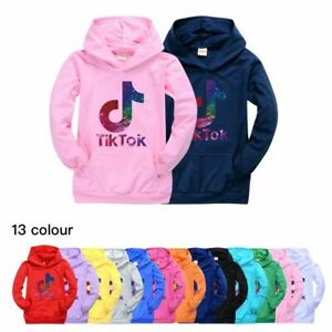 NEW Tik Tok Spring Autumn Fashion Boy Girl Cartoon Hoodie Sweat T-shirt Top Gift