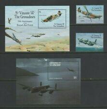 St Vincent & Grenadines RAF 75th Anniversary Mint MNH + Dambusters Mini Sheet