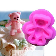 3D Cute Bear Shape Fodant Silicone Mould Cake Decoration Tool Mold Biscuit Mould