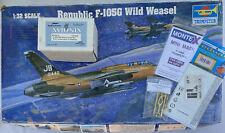 Trumpeter 1/32 Republic F-105G Thunderchief Wild Weasel Model Kit  W/ LotsExtras