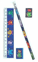 6 Monster Stationery Sets - Pinata Toy Loot/Party Bag Fillers Wedding
