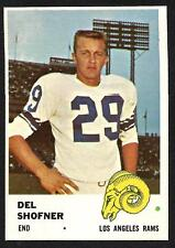 1961 Fleer Football Card  DEL SHOFNER    Rams  # 103  NM-MT