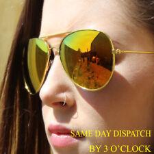 Occhiali da sole da donna aviator con lenti in multicolore con mantatura in metallo