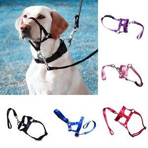 Large Pet Gentle Leader Dog Head Collar Training Dog Halter Harness Stop Pulling