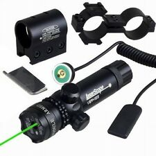 Tactical Green Laser Dot Hunting Rifle Gun w/ Mount Remote Switch Sight Rail