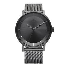 Adidas distrito de hombre M1 Z04 632-00 Gris Cuarzo Reloj de Moda de Acero Inoxidable