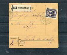 Deutsches Reich Michel Nr. 132 auf Paketkarte - b0748