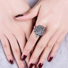 Fashion Antique Silver Hedgehog Lucky Rings for Women Wedding Party Jewelry