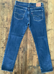 MENS LEVIS 511 JEANS W34 L33 MID RISE SLIM FIT STRAIGHT LEG BLUE
