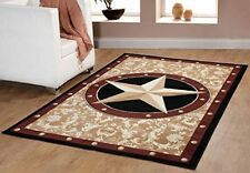 "Furnish my Place Texas Western Star Rustic Cowboy Decor Area Rug, 60"" L, Gold/Br"