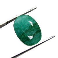 6.40Cts Certified Natural Cut Colombian Green Emerald UNHEATED Gemstone CH 7585