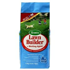 SCOTTS LAWN BUILDER SLOW RELEASE LAWN FERTILISER + WETTING AGENT 2.5KG