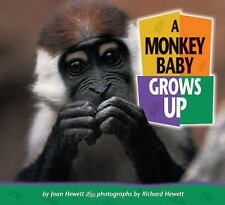 A Monkey Baby Grows Up (Baby Animals (Carolrhoda Books Hardcover))-ExLibrary