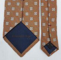 ERMENEGILDO ZEGNA Men's Classic NECKTIE Woven Silk Blend Checked Pattern ITALY