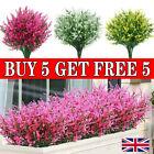 Artificial Flowers Plastic Fake Plants UV Resistant Outdoor Home Garden Decor UK